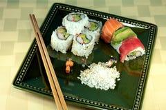 Herstellung der Sushi Stockfotos