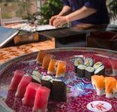 Herstellung der Sushi Stockbild