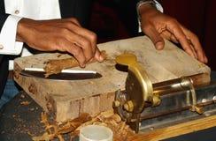Herstellung der Zigarre Stockbild