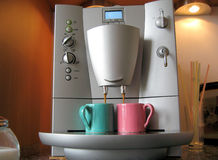 Herstellung des Espressokaffees.   Lizenzfreie Stockbilder