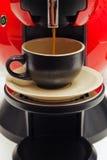 Herstellung des Espressos Stockfoto