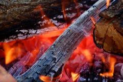 Herstellung des Feuers Stockfotos