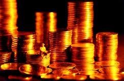Herstellung des flüssigen Geldes stockfotografie