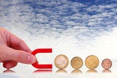 Herstellung des Geldkonzeptes Stockfotografie