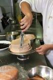 Herstellung des Kuchens Stockbild