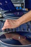 Herstellung des Musikmischers Stockfotografie