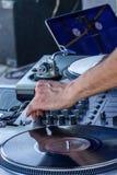 Herstellung des Musikmischers Lizenzfreie Stockfotos