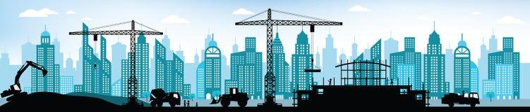 Herstellung des Neubaus in der Stadt Stockbilder