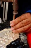 Herstellung des Tafelsilbers Lizenzfreies Stockfoto