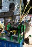 Herstellung des Zuckerzuckerrohrsafts Stockfotos