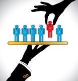 Herstellung die beste Wahl oder das Wählen des besten Kandidaten Lizenzfreies Stockbild