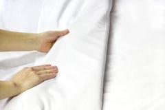 Herstellung eines Betts Lizenzfreie Stockfotos