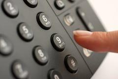 Herstellung eines GeschäftsTelefonanrufes Stockbilder