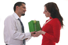 Herstellung eines Geschenkes Lizenzfreie Stockbilder