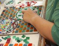 Herstellung eines Mosaiks Stockfotos