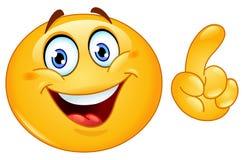 Herstellung eines Punkt Emoticon Stockfoto