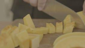 Herstellung eines selbst gemachten Kürbiskuchens stock video footage