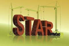 Herstellung eines Sternes Lizenzfreie Stockfotos
