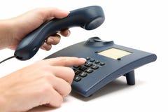 Herstellung eines Telefon-Aufrufs Lizenzfreies Stockbild