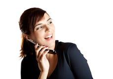 Herstellung eines Telefonaufrufs Lizenzfreies Stockfoto