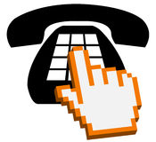 Herstellung eines TelefonRufzeichens Stockbild