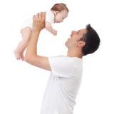 Herstellung von Gesichtern für Baby Stockfotos