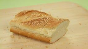 Herstellung von Knoblauch-Brot 3 stock footage