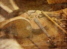 Herstellung von Musik Stockfoto