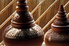 Herstellung von Tonwaren auf dem lokalen Gebiet, Ko-kret, Nonthaburi Lizenzfreies Stockfoto