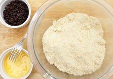 Herstellung von Waliser-Kuchen Stockbild