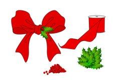 Herstellung von Weihnachtsbögen Stockfotografie