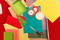 Herstellung von Weihnachtsdekorationen Lizenzfreie Stockfotografie