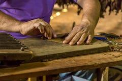 Herstellung von Zigarren in Vinales, Kuba #16/21 Lizenzfreies Stockbild