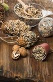 Herstellung von Zufuhren für Vögel von den Samen und vom Fett Lizenzfreies Stockfoto