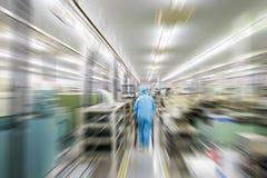Herstellungsfabrik verwischt Lizenzfreie Stockfotos