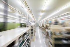 Herstellungsfabrik verwischt Stockbilder