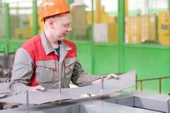 Herstellungsverfahren-Transformatorbau Stockfoto