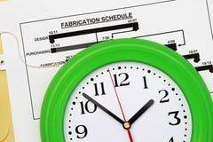 Herstellungszeitplan Lizenzfreie Stockbilder