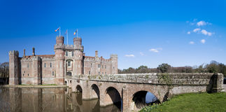 Herstmonceux城堡全景东部苏克塞斯英国 库存照片