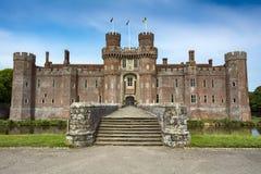 Herstmonceux城堡在东萨塞克斯郡在南英国 库存照片