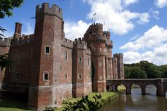 Herstmonceux Castle in East Sussex, England, Europe Royalty Free Stock Photography