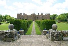 Herstmonceux Castle garden in England Stock Photos