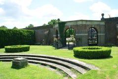 Herstmonceux Castle garden in England Stock Image