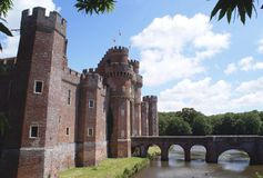 Herstmonceux Castle in Herstmonceux, East Sussex, England Royalty Free Stock Photo