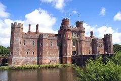 Herstmonceux Castle in Herstmonceux, East Sussex, England Royalty Free Stock Images