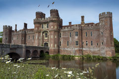 Herstmonceux Castle Viewed Across The Moat In East Sussex Stock Images