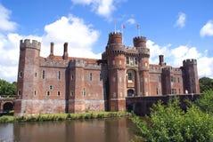 Herstmonceux-Schloss in Herstmonceux, Ost-Sussex, England Lizenzfreie Stockbilder