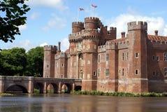 Herstmonceux slott i England arkivfoto