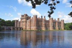 Herstmonceux slott i Herstmonceux, östliga Sussex, England, Europa royaltyfria foton