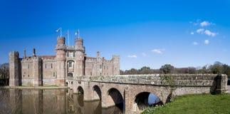Herstmonceux slottpanorama östliga Sussex England Arkivfoton